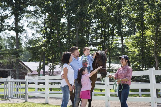 元競走馬と触れ合える「ノーザンホースパーク」1