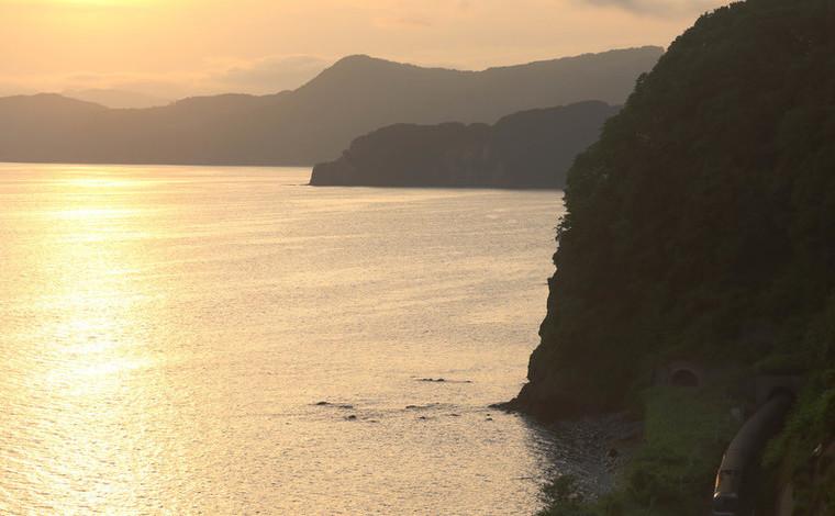 噴火湾への落日1