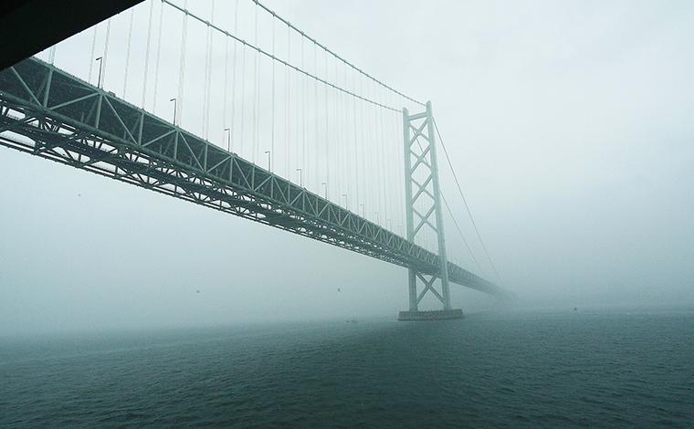 【11:30】最初の絶景ポイント「明石海峡大橋」!2