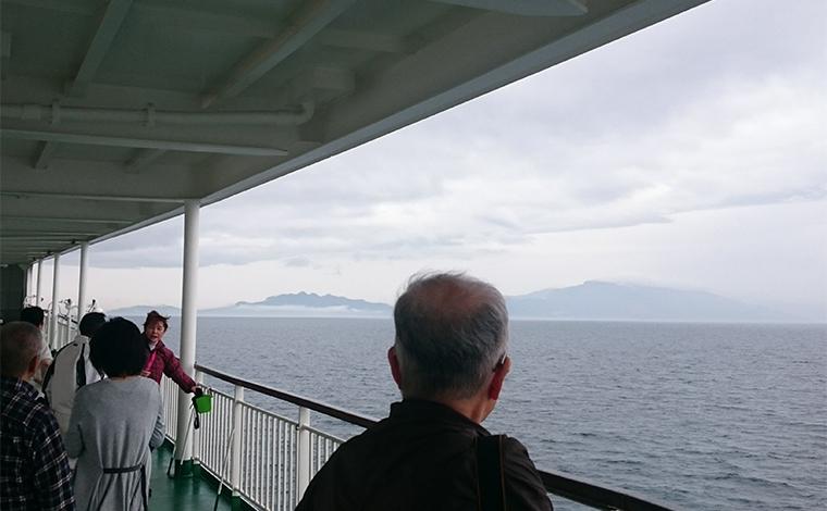【13:00】小豆島が見えました!1