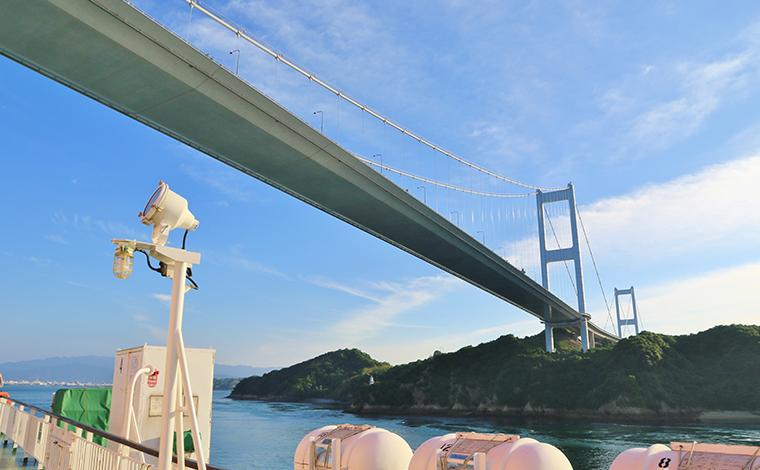 【17:30】第三の絶景ポイント「来島海峡大橋」!2
