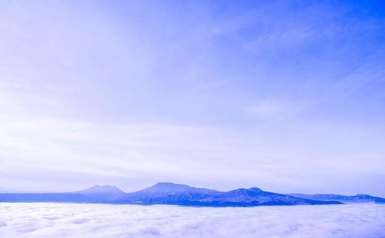 2日目、早起きしたら雲海を1