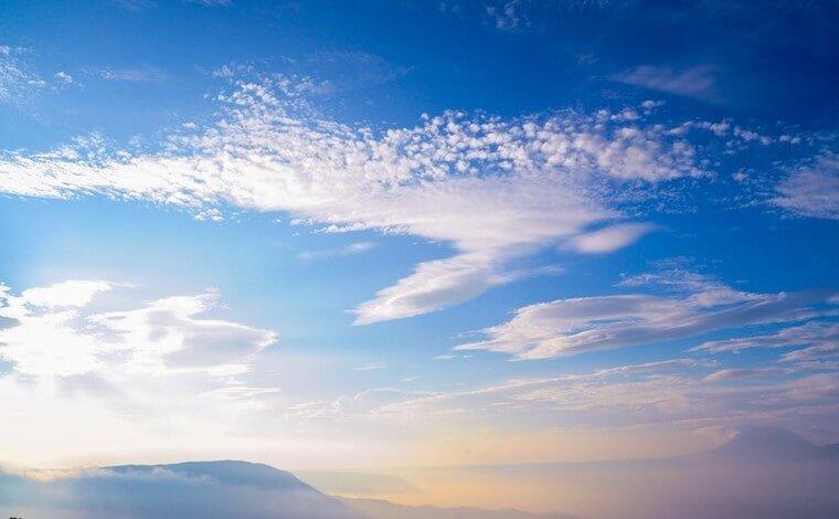 2日目、早起きしたら雲海を2