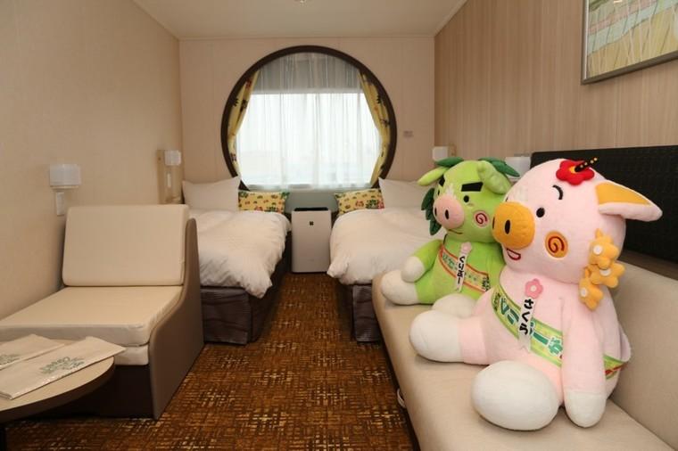 部屋は専用バルコニー付きからバリアフリー、くまモン仕様まで8