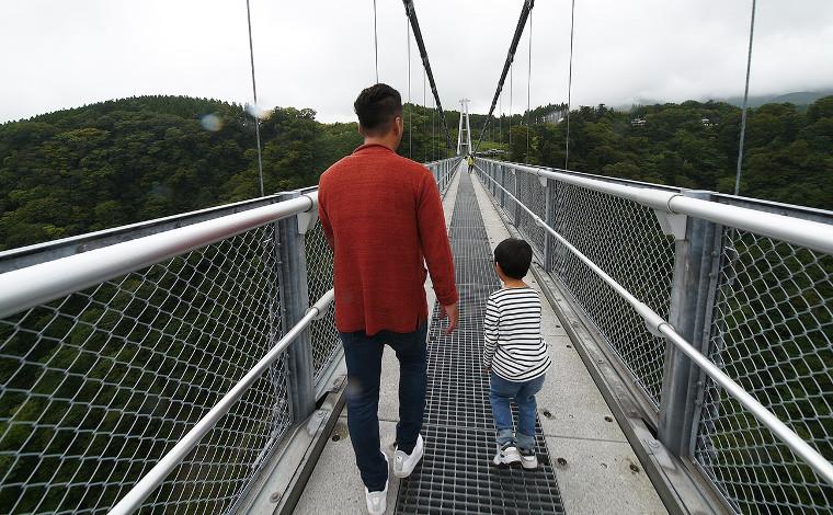 日本一の大吊橋で根性試し!2
