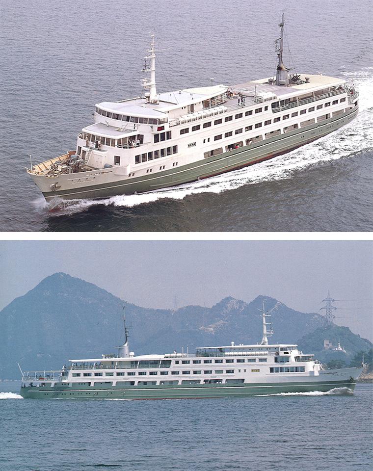 華やかな「新婚旅行船」2