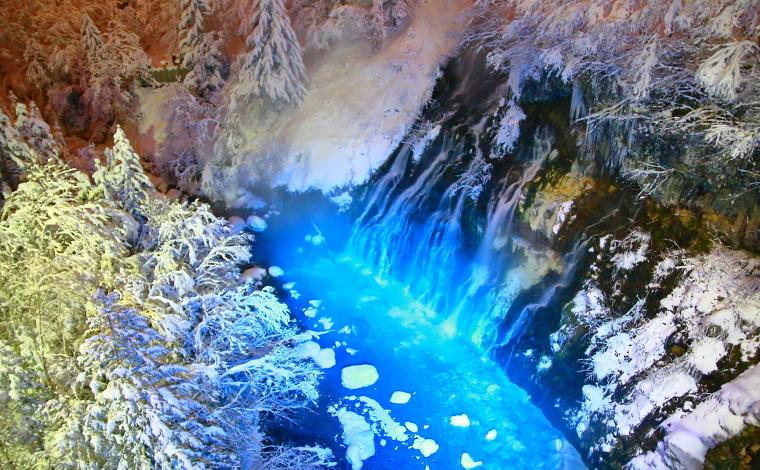 ブルーリバー上流の滝(美瑛町)1