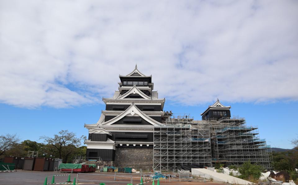 復興工事中の熊本城