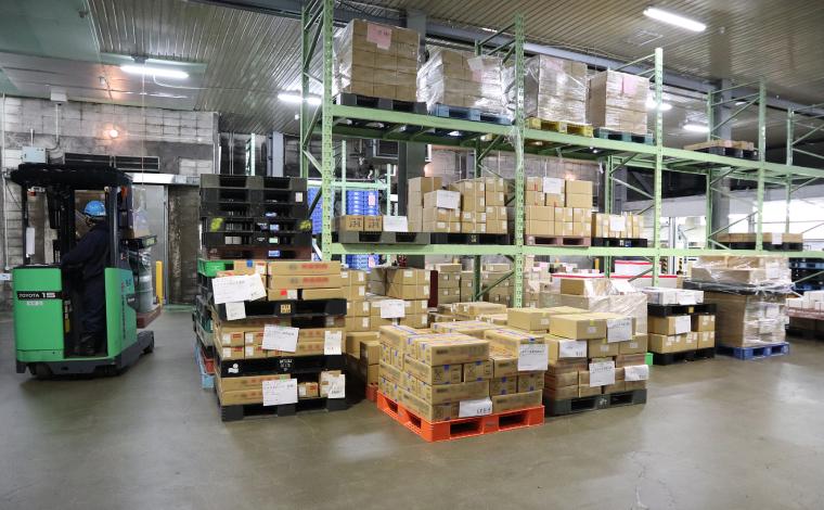 札幌定温運輸の冷凍倉庫
