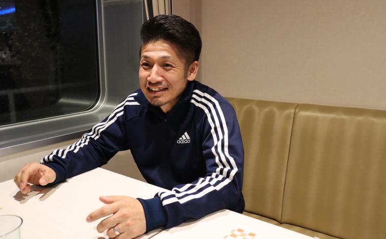 「何度も乗船しているけど、一般のレストランには初めて入りました」と髙田さん