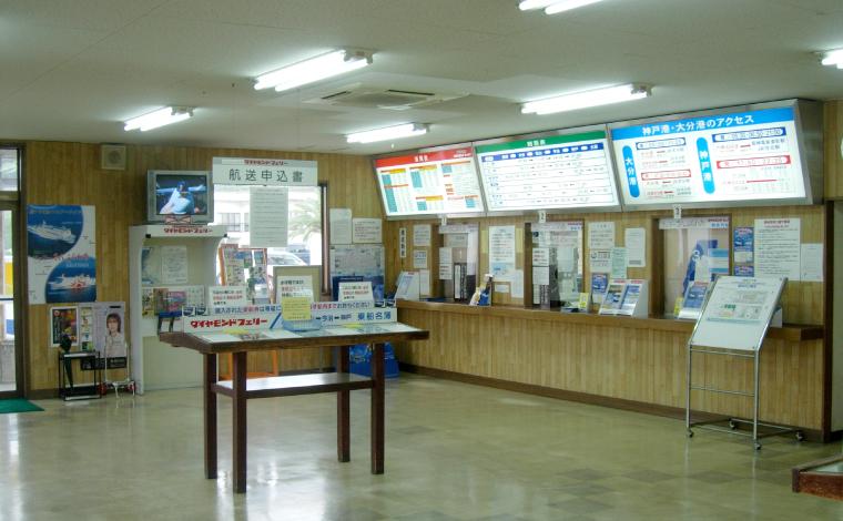 車両用切符売場の内部
