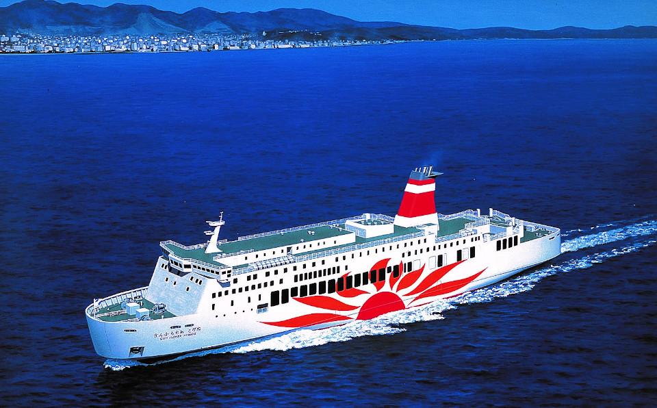 松山観光港に寄港していた「さんふらわあ」
