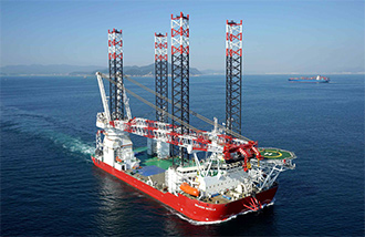 One of the world's largest Self-Elevating Platform vessels, the Seajacks Scylla, owned and operated by Seajacks